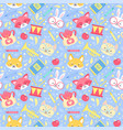 school seamless pattern for children vector image vector image