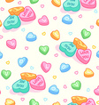 Seamless pattern for Valentines Day with candies vector image vector image
