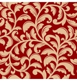 Seamless pattern with decorative flourishes vector image vector image