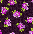 Seamless pattern with roses on a background of vector image vector image
