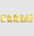 set minimal gold geometric halftone gradient vector image