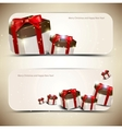 Set of elegant banners with gifts vector image