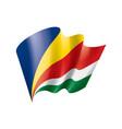 seychelles flag on a white vector image
