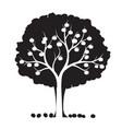 shape apple tree outline plant in garden eps vector image vector image