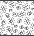 silhouette sketch decorative pattern flowers vector image