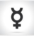 silhouette transgender mercury symbol vector image vector image