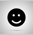 smile silhouette simple black happy face icon vector image vector image