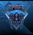 spider esport mascot logo design vector image