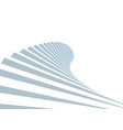 stair in sky on white background vector image vector image