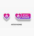 stay home signs template for quarantine posts vector image vector image