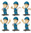 Technician or Repairman Mascot 3 vector image vector image
