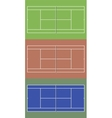 Tennis courts set Top view vector image vector image