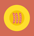 Top View of Sausages On Plate vector image vector image