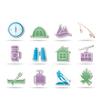 travel and mountain objects vector image vector image