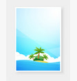 tropical beach poster with copy space vector image