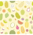 Tropical fruits seamless pattern vector image vector image