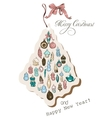 Vintage Christmas card pastel colors vector image