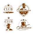 Vintage gentleman club emblems labels vector image vector image