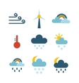 Weather thin icons set vector image