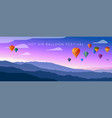 wide panorama mountain landscape vector image vector image