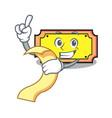 with menu ticket mascot cartoon style vector image