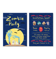 zombie party invitation with monster hands vector image vector image