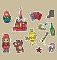 russia culture doodle graphic element vector image