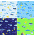 Set of seamless patterns on the theme of weather vector image