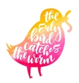 Bird lettering composition vector image