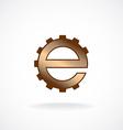 E letter logo template Gear technical concept vector image