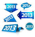 2013 Labels stickers pointers tags vector image vector image