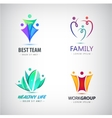 abstract stylized family team lead icon vector image vector image