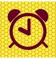 alarm clock Flat modern web button and space for vector image vector image