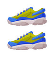 athletic shoes fitness sneakers for training vector image