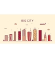 Big city skyline Trendy linear vector image vector image