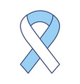 blue awareness ribbon vector image vector image