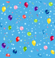 blue pattern balloons vector image
