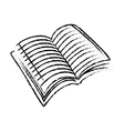 Book scribble draw vector image