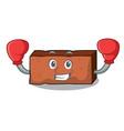 boxing brick character cartoon style vector image vector image