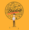 business people for start up concept vector image vector image