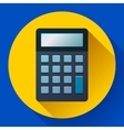 Calculator icon flat style isolated vector image vector image