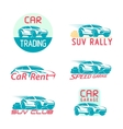 Car Logo Template Design set vector image vector image