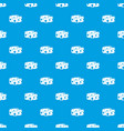 cheese wheel pattern seamless blue vector image vector image