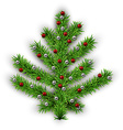 Christmas tree over white background vector image vector image