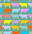 Colored cows Herd Seamless pattern ornament of vector image vector image