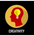 Concept of innovation creativity emergence idea vector image vector image
