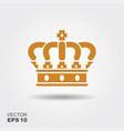 crown flat icon vector image vector image