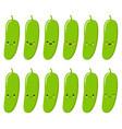 cucumber vegetable food concept emoji emoticon vector image vector image