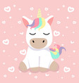 cute cartoon nice unicorn vector image