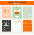 Cute Journaling 3x4 Vertical Cards vector image